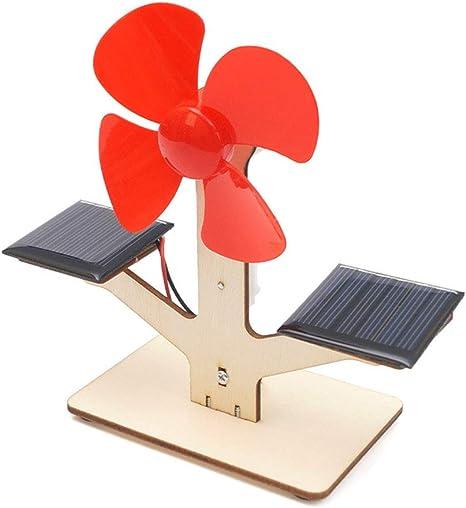 WZ Experimentos De Ciencia para Niños Ventilador Solar De Bricolaje Eléctrico Ensamblar Modelo Cabrito Física Ciencia Experimentos: Amazon.es: Deportes y aire libre
