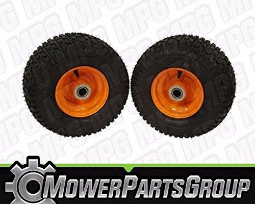 (2) Scag 13x6.50-6 Walk Behind Mower Tire Assemblies w/Double Belt Drive 48192