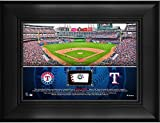 "Texas Rangers Framed 5"" x 7"" Stadium Collage with a Piece of Game-Used Baseball - MLB Team Plaques and Collages"