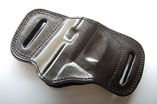 - Cal38BTC Bersa Thunder 380 Plus Combat Plus Leather Handcrafted Belt Slide Holster (BLACK)