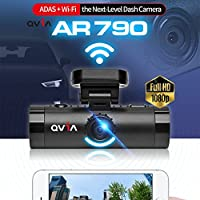 Lukas Qvia AR790 2Ch. Full HD Blackbox Dash Camera ADAS + FCWS + LDWS + FVSA + WDR + Night Vision + Wi-Fi (16GB MicroSD Card)