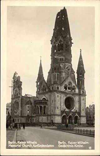 Kaiser Wilhelm Memorial Church, Kurfurstendamm Berlin, Germany Original Vintage Postcard