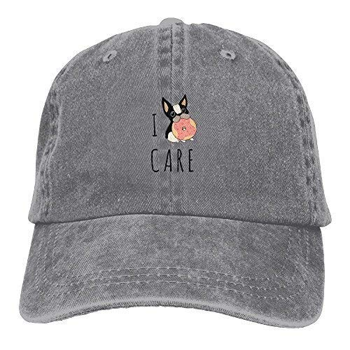 Thethingyouonceowned I Care French Bulldog Summer Personalized Casual Plain Hats Cowboys Adult Baseball Cap Ash ()