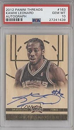 Kawhi Leonard PSA GRADED 10 (Basketball Card) 2012-13 Panini Threads - [Base] #163