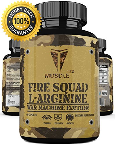 __MUSCLE TEX FIRE SQUAD L-ARGININE__ Improve Blood Circulation For EXTREME GAINS – Fasting Acting L-Arginine Amino Acid – The Best L-Arginine SUPPLEMENT! BODYBUILDING APPROVED