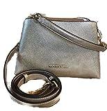 MICHAEL Michael Kors Portia Small Saffiano Leather Shoulder Bag, Pale Gold