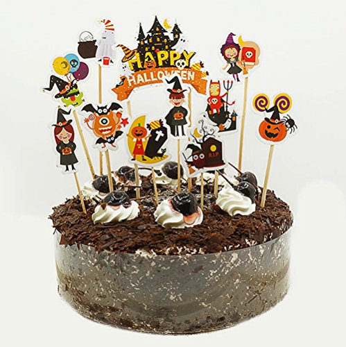 11 PCS Halloween Cupcake Toppers Donut Decor for Party