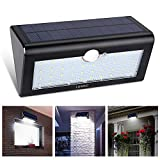 Solar Security Light, LONRIC 38 LED Outdoor Solar Energy Motion Sensor Light with 3 Modes Waterproof Solar Lighting for Porch Patio and Yard