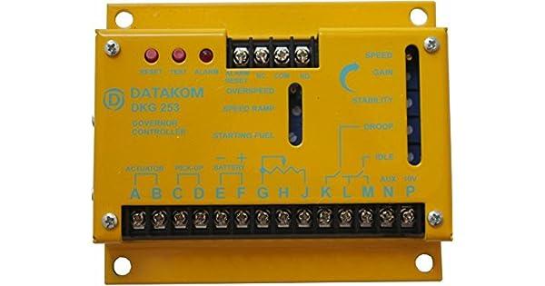 Amazon.com: DATAKOM DKG-253 Generador Motor Gobernador ...