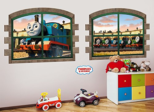 Thomas & Friends Large Window Wall Decal Set (Friends Decal Set)