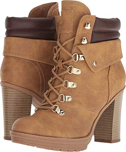 G by GUESS Women's Genja Camel/Cafe 8.5 M - Heel High Heels Guess