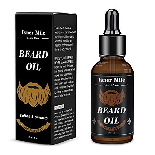The Gentlemen's Premium Beard Oil Conditioner- All Natural Fragrance Free,Strengthens and Promotes Beard & Mustache Growth – Leave in Conditioner Moisturizes Facial Hair