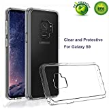 Galaxy S9 Case with Crystal Clear TPU Bumper and Hard PC Panel, Anti Yellow and Shockproof Protective Case for Samsung Galaxy S9