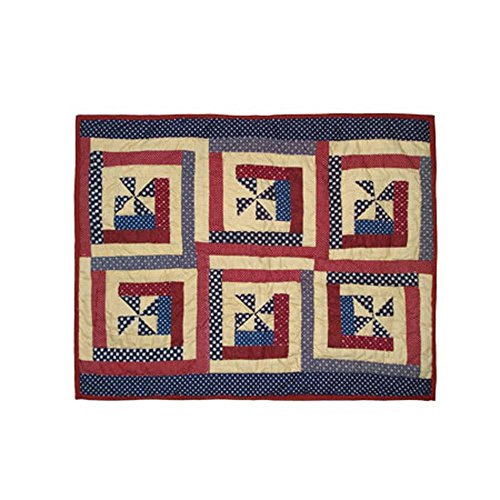 Patch Magic Midnight Log Cabin Pillow Sham, 27