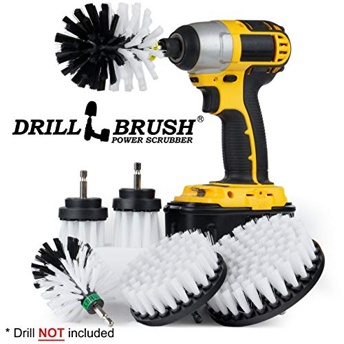 Drill Brush - Ultimate Car Wash Kit - Cleaning Supplies - Car Carpet - Truck Accessories - Wheel Brush - Motorcycle Accessories - Car Mats - Spin Brush - Interior Leather, Vinyl, Upholstery, Fabric