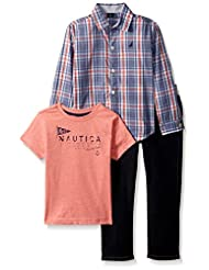 Nautica Toddler Boys\' Long Sleeve Button up, Tee and Denim P...