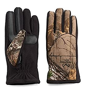 Isotoner Mens Camouflage Gloves SmartTouch with Touch Screen Texting (Large)