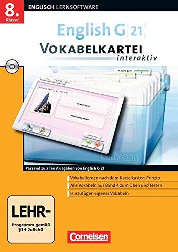 English G 21 - Lernsoftware - Vokabelkarteien interaktiv - zu allen Ausgaben: Band 4: 8. Schuljahr - CD-ROM
