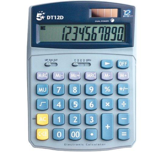 5 Etoiles DT12D Calculatrice de bureau 12 chiffres