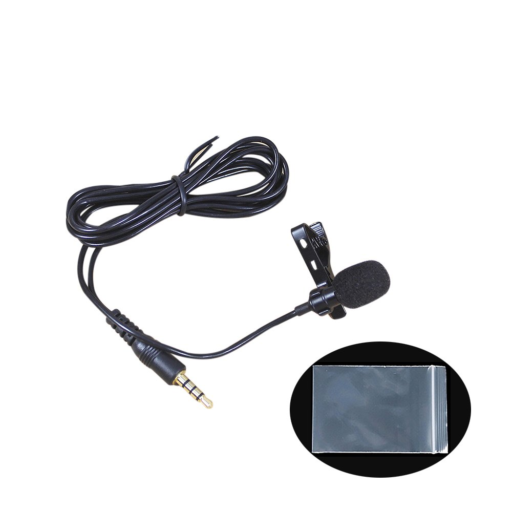 vevice Mini Phone Lavalier Mikrofone Wechselrahmen Mikrofon tragbar Lavalier Knopflochmikrofon für Handy geeignet für Audio-Aufnahme Podcast Interviews Konferenz Live Singen (weiß PE-Tüte * 1) 7OBZ09J1215PJENJR