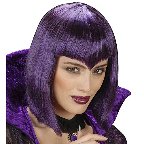 Gothic Vamp Purple Wig for Hair Accessory Fancy Dress