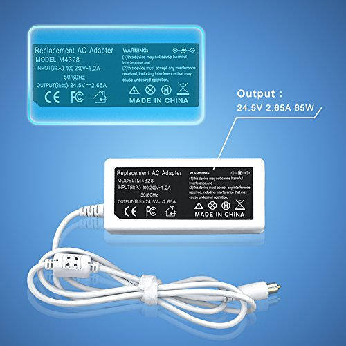 Apple Ibook Dual Usb (X-BO 24.5V 2.65A 65W Ac Laptop Adapter Charger for Apple Powerbook G4 12 inch DVI 15 inch 17 inch FW800 17 inch iBook G4 A1021 A1133 M8592J/A M8943 M8943LL/A)