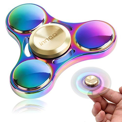Fidget Spinner   Innoo Tech Colorful Hand Spinner Figit Spinner   Rainbow Spinner Fidget Toys   Zinc Alloy   Spin 3-5 Minutes   High Speed Stainless Steel Bearing   Anxiety Relief Toys