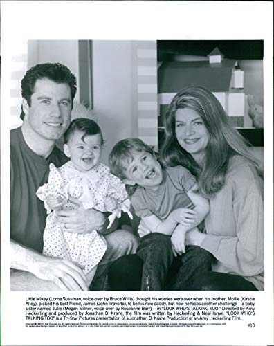 Vintage Photos 1990 Actor Look Who's Talking Too Kirstie Alley John Travolta Rosanne 8X10