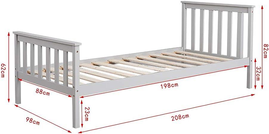 Cama individual CTlite de madera de un día - cama nido ...