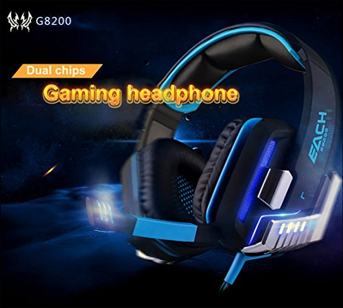 Mugen Power EACH G8200 Gamining Headphone 7.1 Surround USB Vibration Game Headset Headbank Earphone with Mic LED Light for PC Gamer PlayStation, - Earphones Acer Headphones