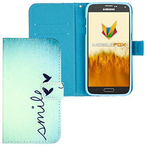 Mobilefox Smile Flip Case Handytasche Samsung Galaxy S5 mini