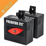 Predator Eye - Aspectek - Night Time Solar Powered Animal Repeller - 2 Pack, Waterproof, Animal Control, Nocturnal Animals, Outdoor Use