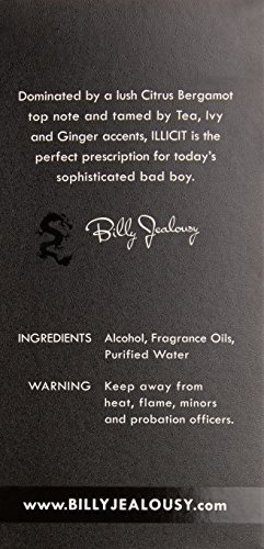 Billy Jealousy ILLICIT Eau de Perfume, 3.4 fl. oz.