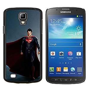 S Superhéroe- Metal de aluminio y de plástico duro Caja del teléfono - Negro - Samsung i9295 Galaxy S4 Active / i537 (NOT S4)