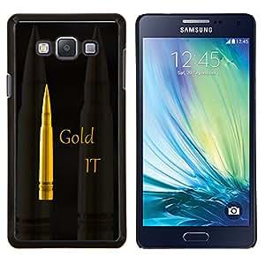 TECHCASE---Cubierta de la caja de protección para la piel dura ** Samsung Galaxy A7 ( A7000 ) ** --Oro Se Bullet
