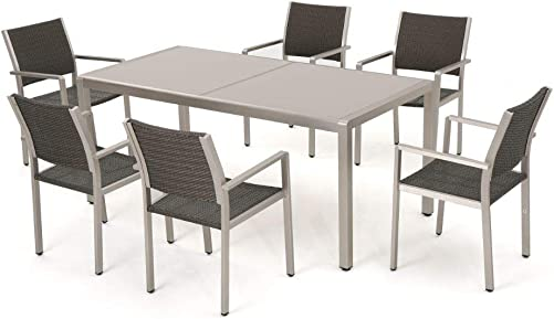 Christopher Knight Home Cape Coral Outdoor Aluminum Dining Table