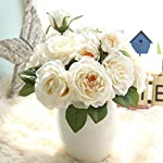HOT-SaleNapoo-A-Bunch-of-Fake-Artificial-Fake-Rose-Flowers-Wedding-Bouquet-Party-Home-Decor-White