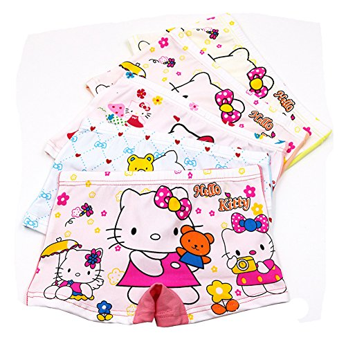 2-8 Years Old Girls HelloKitty Boyshort Panties Cotton Underwear For Dresses 5 (Hello Kitty Boyshort Panty)