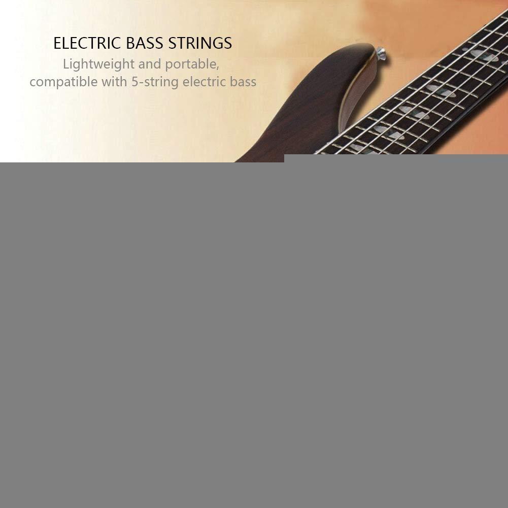 Cuerdas para bajo el/éctrico duraderas de 5 Cuerdas para Accesorios de reemplazo de Instrumentos Musicales Fafeims Cuerdas para bajo