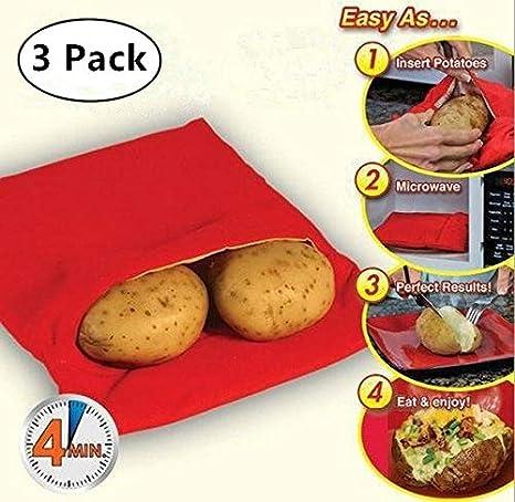 3 Pack) Microondas – Bolsa para Patatas, Magnolian Corn, day ...