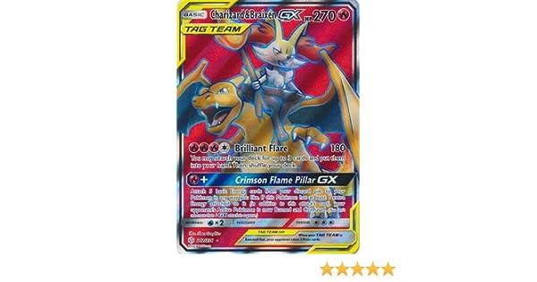 CHARIZARD /& BRAIXEN GX Cosmic Eclipse 212//236 Full Art Pokemon TCG