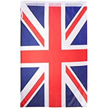Jili Online National Flag Banner Polyester 60x90cm 2''x3'' for Club School Business Party Decoration - Union Jack, 60x90cm