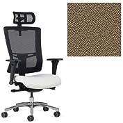 Office Master Affirm Collection AF529 Ergonomic Executive High Back Chair - JR-69 Armrests - Black Mesh Back -...