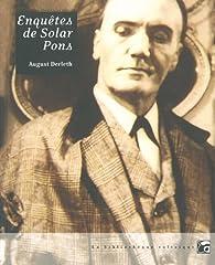 Enquêtes de Solar Pons par August Derleth