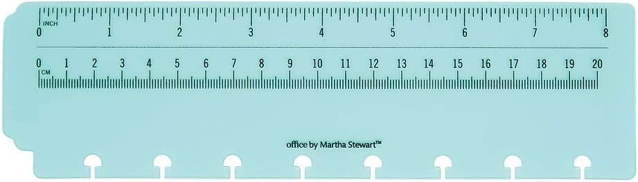 Office by Martha Stewart 2094528 Office By Martha Stewart Discbound Ruler Junior Size Blue (29577)