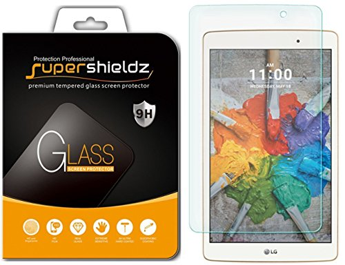 Price comparison product image LG G Pad X 8.0 Tempered Glass Screen Protector, Supershieldz 0.3mm 9H Hardness, Anti-Scratch, Anti-Fingerprint, Bubble Free, Lifetime Replacement Warranty