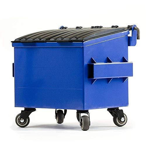 Office Signage Desktop - Dumpsty Steel Desktop Dumpster in Blue