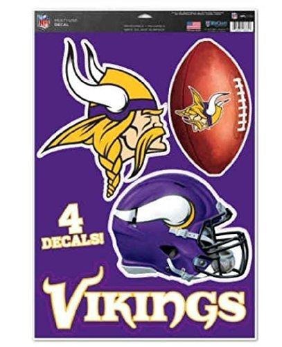 NFL Minnesota Vikings WCR41312014 Multi-Use Decal, 11'' x 17''