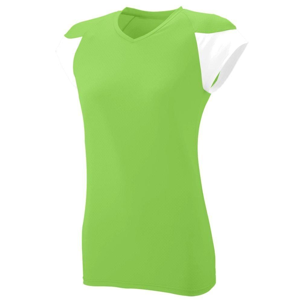 Augusta SportswearレディースMVPジャージー B00HJTMC7Oライム/ホワイト O