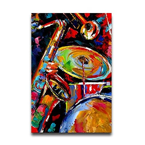 Amazon Com Abstract Jazz Colorful Music Painting Customized